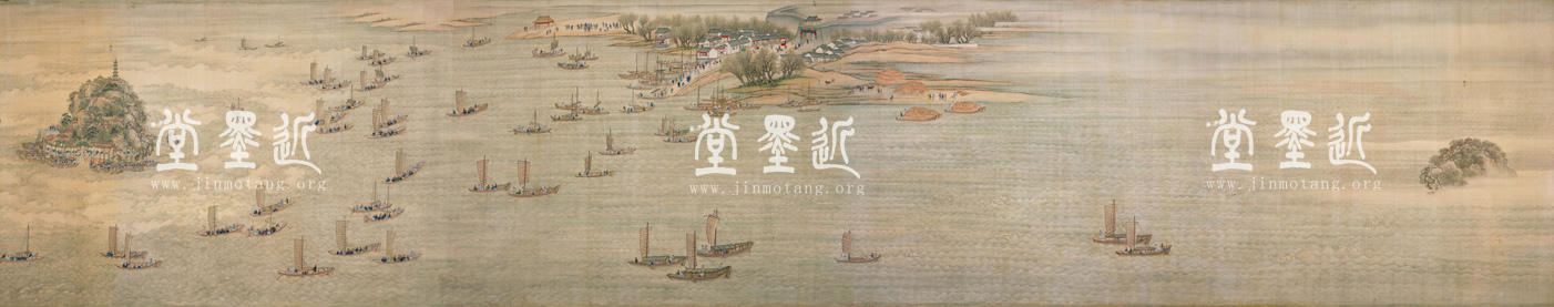 The Kangxi Southern Inspection Tour, Scroll Six